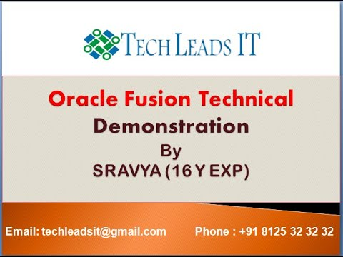 ORACLE FUSION TECHNICAL ONLINE TRAINING DEMO - YouTube