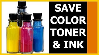 Quick Guide: Save color ink by fixing driver settings
