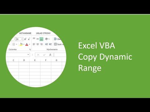 Excel VBA - Copy Dynamic Range