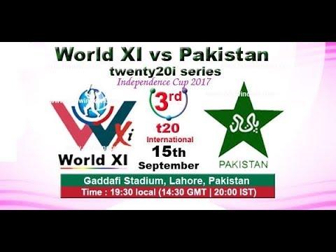 pakistan vs world 11 3rd 20/20 ptv sports LIVE MATCH