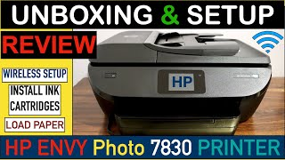 HP Envy Photo 7830 SetUp, Quick Unboxing, Install Ink, Load Paper, Wireless SetUp & Review !!