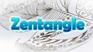 Зентангл для начинающих.Zentangle.Drawing basics.