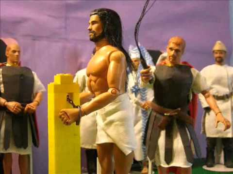 Stop Motion Action Figures the Death of Jesus