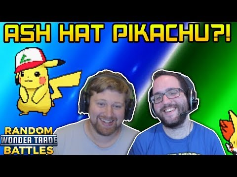 ASH HAT PIKACHU?! | RANDOM Wonder Trade Battles Pokemon Ultra Sun and Moon vs JustPlayPokemon!