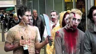preview picture of video 'Bristol Zombie Walk 2011'