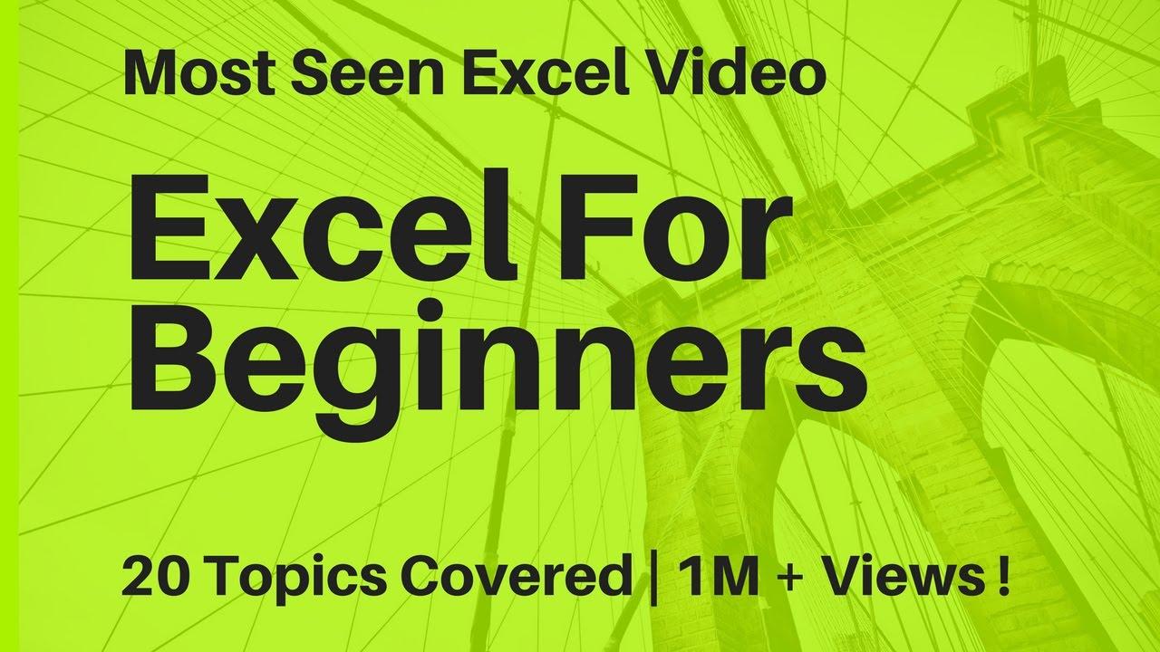 Learn Basic Excel Skills For Beginners || Part 1