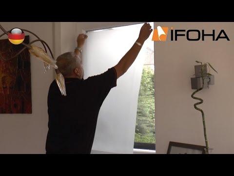 Montage Video Folien auf Glas bringen - Folie auf Glas kleben