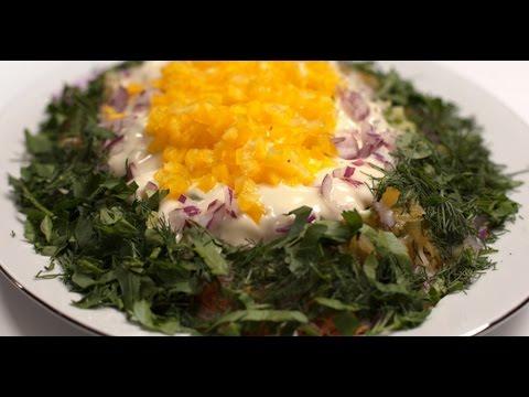 Вегетарианский салат «Мимоза» | 7 нот вегетарианской кухни
