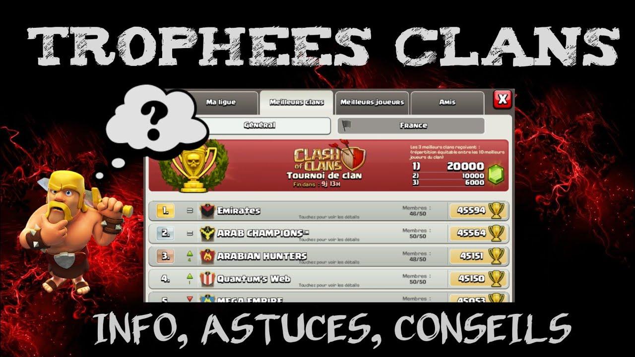 Clash of Clans - Comprendre le calcul des trophées Clan