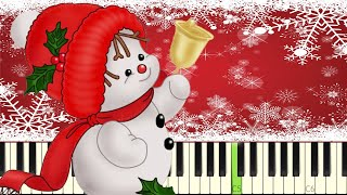 10 EASY Songs for Christmas ANYONE Can Play On Piano - Tutorial