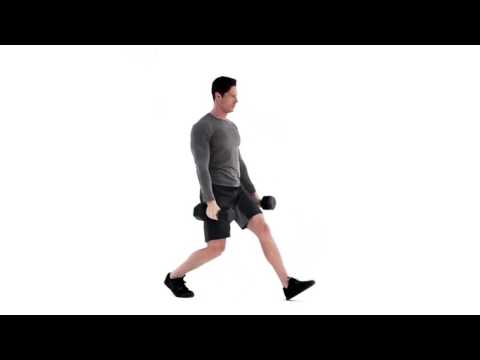 Dumbbell Hammer Curl to Lunge to Press