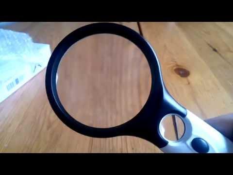 Leselupe 3X 45X Lupe mit 3 LED Licht, BearMoo Handlupe Vergrößrungglas für Senioren