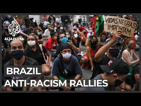 Brazil anti-racism rallies: Protesters blame Bolsonaro