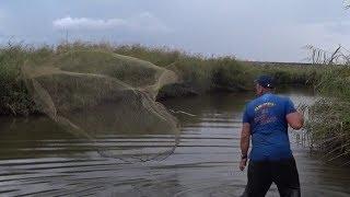 Воруем рыбу из частных водоёмов Кастинговой сетью.