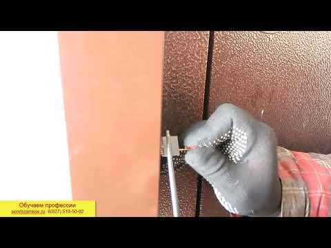 Вскытие двери без ключа за 3 минуты  Замок ZIRH KILIT  Обучение открыванию замков