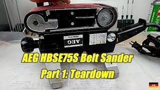 AEG HBSE75 Belt Sander Part 1