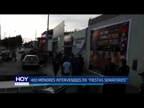"Trujillo: 400 adolescentes intervenidos en ""fiestas semáforos"""