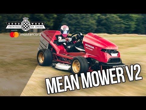 Honda's Mean Mower V2 mows the Duke's lawn for Goodwood Festival of Speed