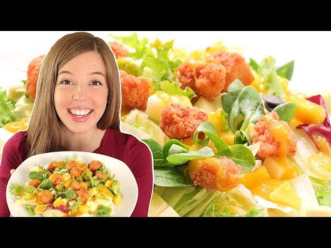 Ensalada de Pollo con Salsa de Mango | Muy Fácil y Rápida!