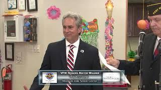 VFW Honors Mayor Wagner At Madison Jobes Hawaiian Luau