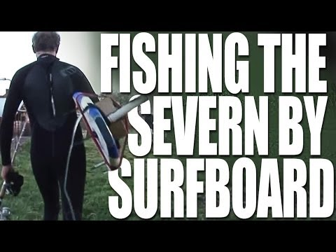 Fishing The Severn Bore on a Surfboard