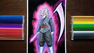 Drawing Goku Black Super Saiyan Rosé
