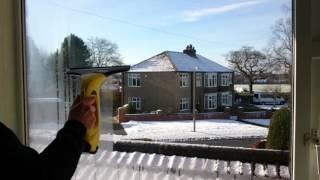 Karcher vm 50 window vac vs condensation demonstration