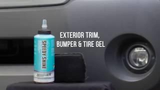 SPEEDY SHINE Traitement gel pour moulures extérieurs, pneus et pare-chocs