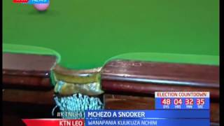 Wadau Nakuru wapania kuukuza mchezo wa snooker