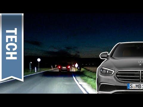 Mercedes E-Klasse: Multibeam LED & Ultra Range Fernlicht im Test / Nachtfahrt mit Fernlichtassistent