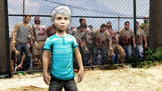 GTA 5 - PLAYING as a KID in a ZOMBIE Outbreak!