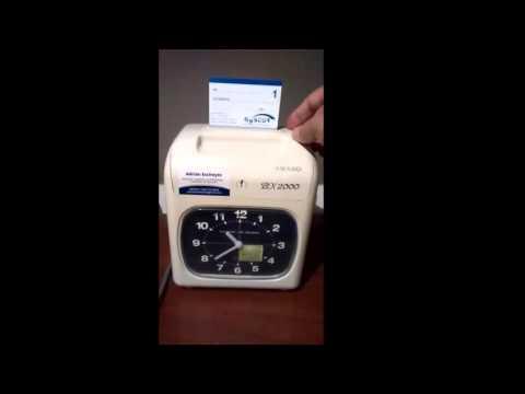 Reloj control de asistencia BX-2000