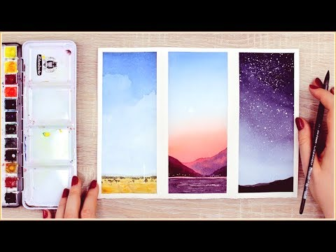 easy watercolor painting ideas for beginners by makoccino