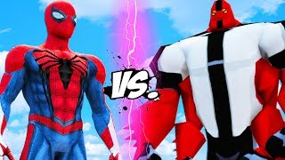 FOUR ARMS VS SPIDER-MAN - Ben 10 vs Insomniac Spiderman