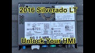 2016 Silverado LT - HMI Unlock by WAMS