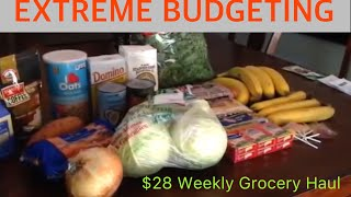 How to live on $2 a day GROCERY HAUL