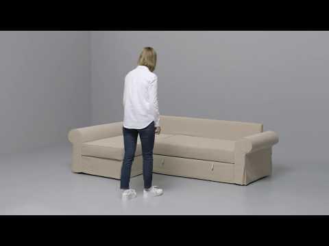 IKEA - BACKABRO - Slaapbank met chaise longue