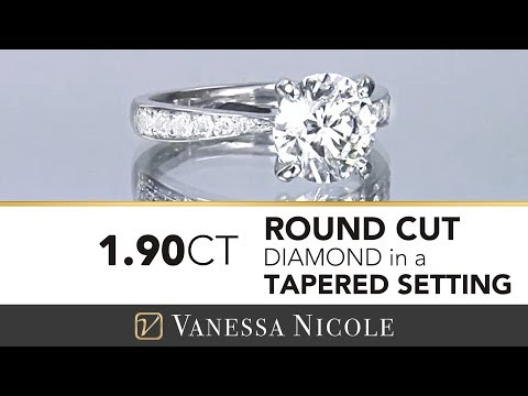 1.90ct Round Tapered Engagement Ring
