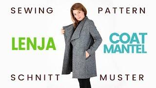 SCHNITTMUSTER MANTEL LENJA / SEWING PATTERN LENJA COAT