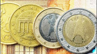 € Euro Germany 1, 2, 5, 10, 20, 50 Cent 2002 Price Coin Money ТАБЛИЦА ЦЕНЫ ТИРАЖ