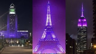 Landmarks Around the World Light Up in Purple for Prince