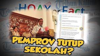 Hoax or Fact: DKI Jakarta Menutup Sekolah hingga Isolasi Wilayah karena Covid-19?