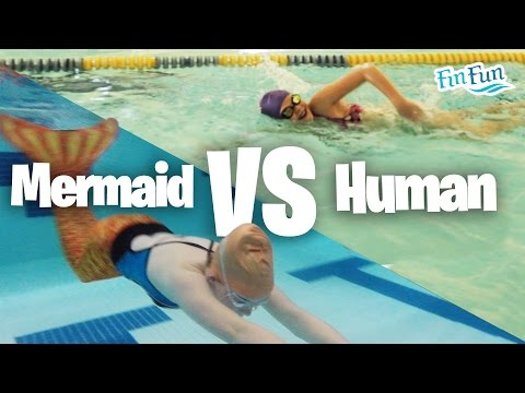 Fin Fun Mermaid Challenge - Mermaid Vs Human