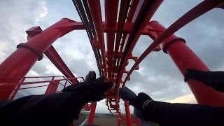 Mayan Roller Coaster (halloween 2017) GO PRO HD POV 60fps Energylandia - Zator Polska #11 OnRide