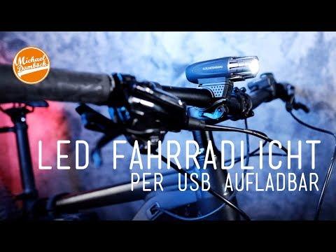 Mein Mountainbike Fahrrad Licht: per USB Aufladbar