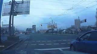 Утро Алматы с Красного Светофора!!! Абая-Брусиловского.18.04.2015