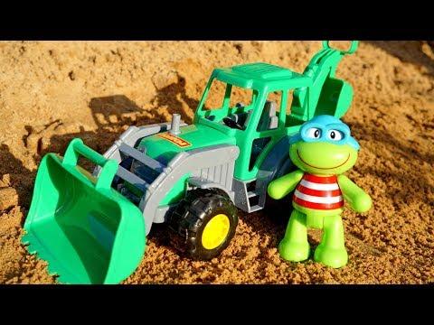 Giochi sulla spiaggia con giocattoli educativi- Video  per bambini