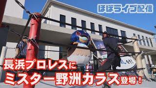 【ほぼライブ配信】長浜プロレスにミスター野洲カラス登場!