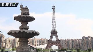 Mini-Paris in China: Drone buzzes over Eiffel Tower replica in 'ghost town' Tianducheng