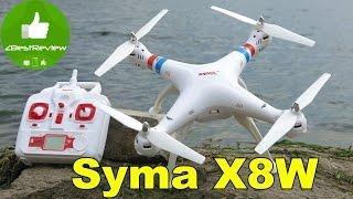 ✔ Syma X8W - Обзор, балансировка винтов. Квадрокоптер с WiFi камерой. Banggood